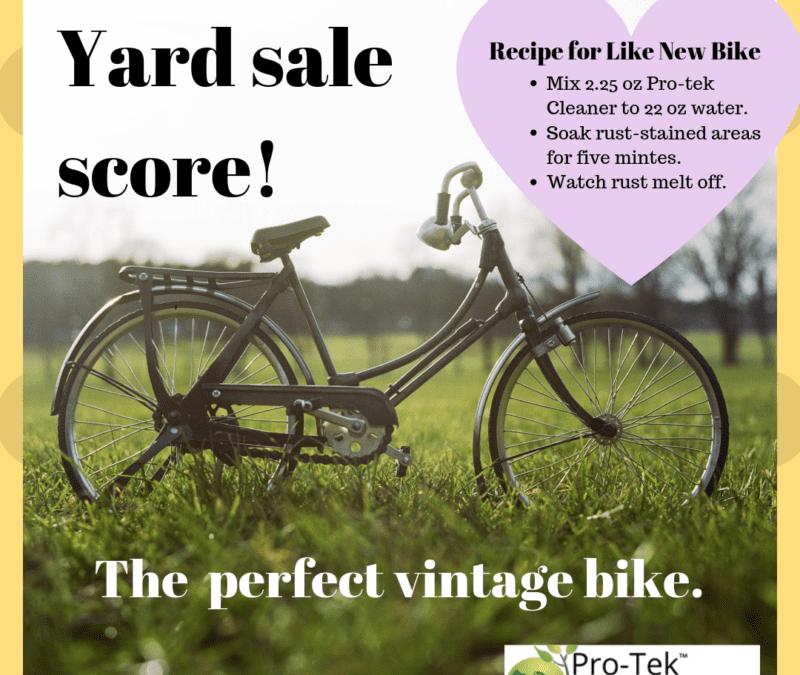 Make Your Yard Sale Score Like New with Pro-Tek!