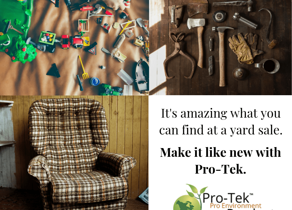 Be a Reusing Champion with Yard Sales and Pro-Tek