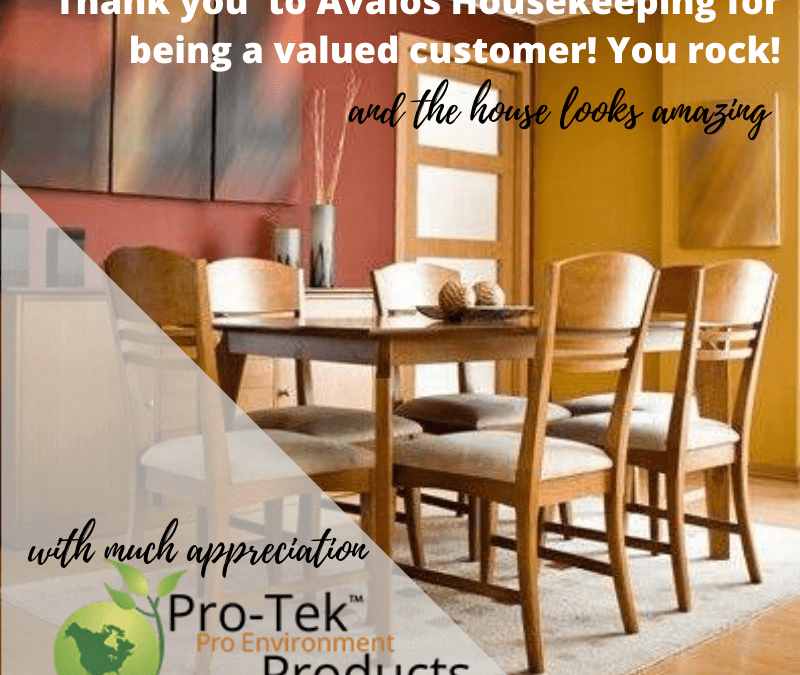 Pro-Tek Thanks Avalos Housekeeping